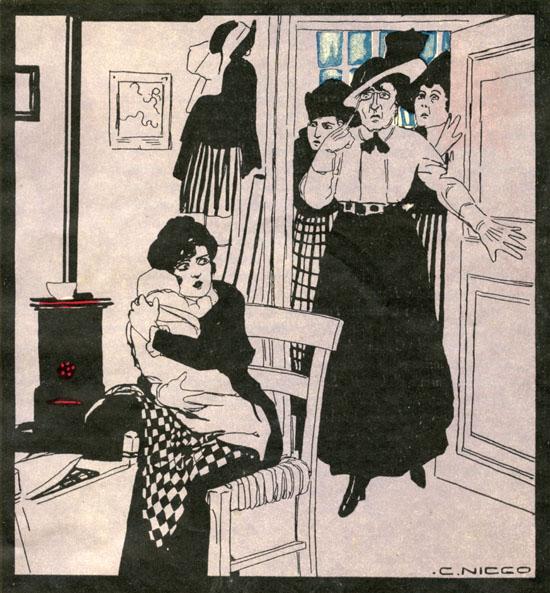 Intolerance, disegno del pittore Carlo Nicco 1917