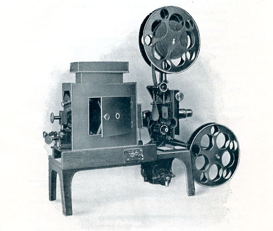 Impianto cinematografico Gaumont 1908