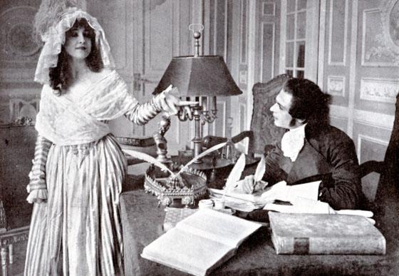 "Lyda Borelli et Amleto Novelli dans ""Madame Tallien"" (Archivio In Penombra)"