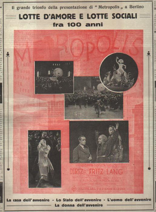 Metropolis Fritz Lang, gennaio 1927