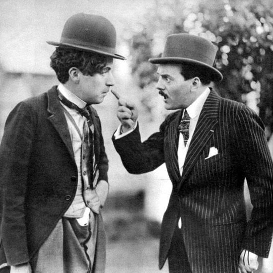 Charles Chaplin et Max Linder 1920