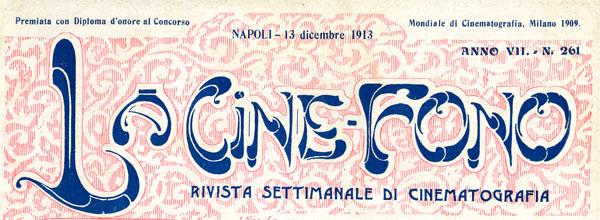 Testata della rivista La Cine-Fono, diretta da Francesco Razzi