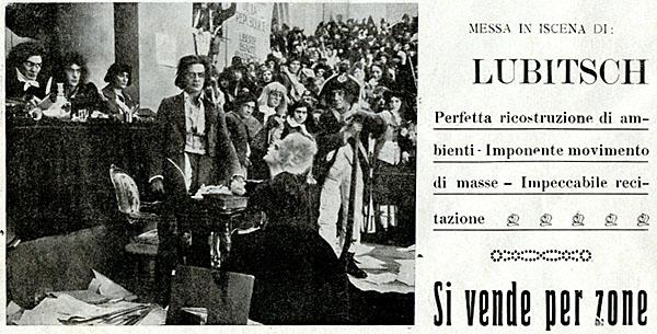 Madame Dubarry di Ernst Lubitsch, distribuzione italiana Monopolio Internazionale, Roma 1920