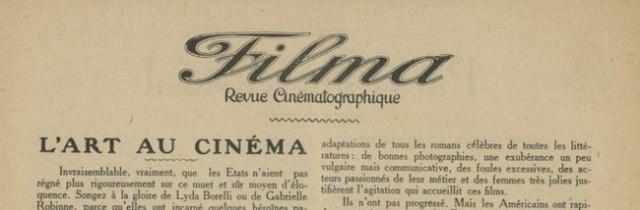 L'art au cinéma par Louis Delluc