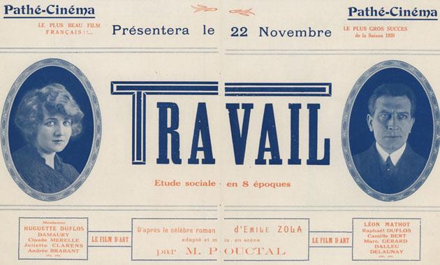Travail Henri Pouctal Paris 22 novembre 1919