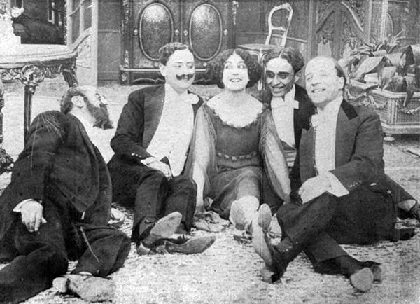 La ballerina Alfonsina Battaglia (Leda Gys), La Principessa, Caesar Film 1917