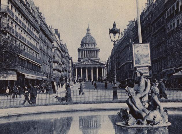 Paris, la Rue Soufflot et le Panthéon