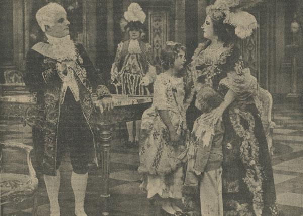 Il figlio di Madame Sans-Gêne, Tiber Film 1921, messa in scena di Baldassarre Negroni