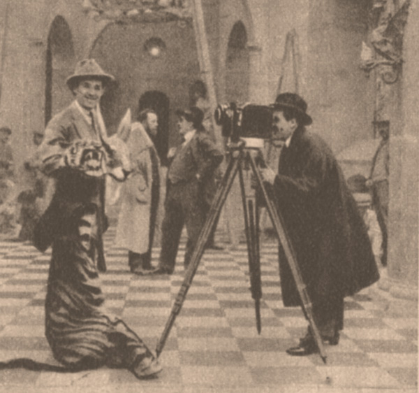 En tournant Au Secours! Abel Gance et Max Linder