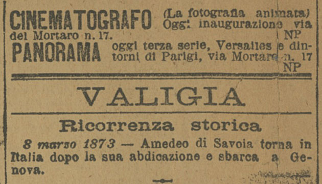 Cinematografo Lumière a Roma, 8 marzo 1896