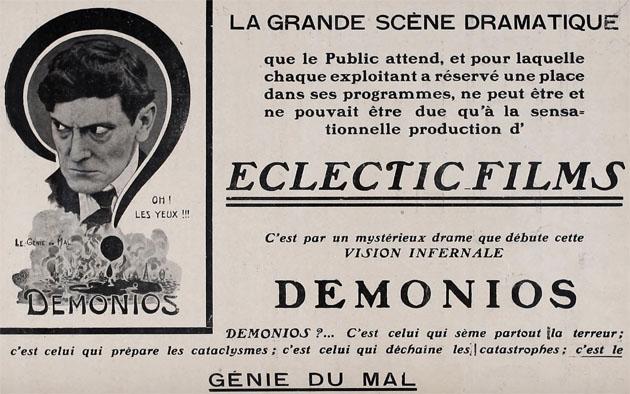 Demonios Génie du Mal Eclectic Films Paris 1913