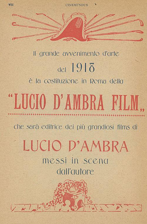 Lucio D'Ambra Film Roma