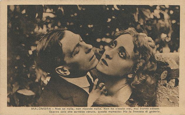 Lyda Borelli e Amleto Novelli in una scena di Malombra, Cines 1917