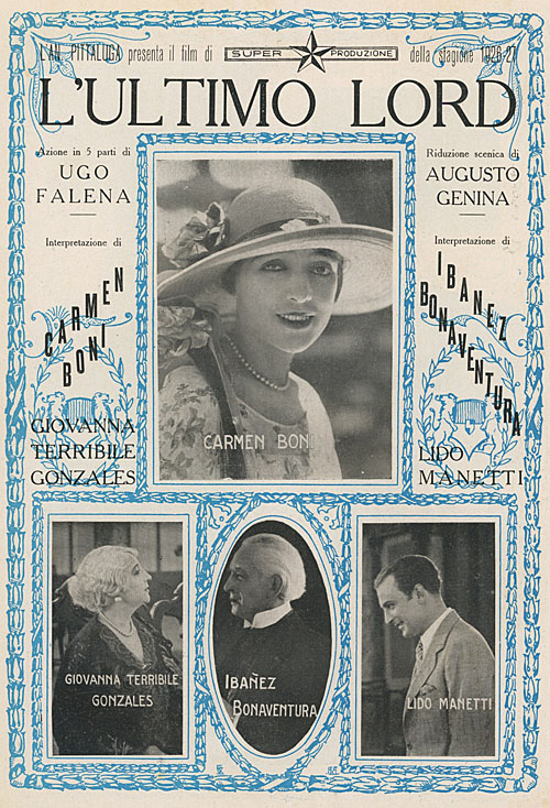 L'ultimo Lord, Augusto Genina 1926
