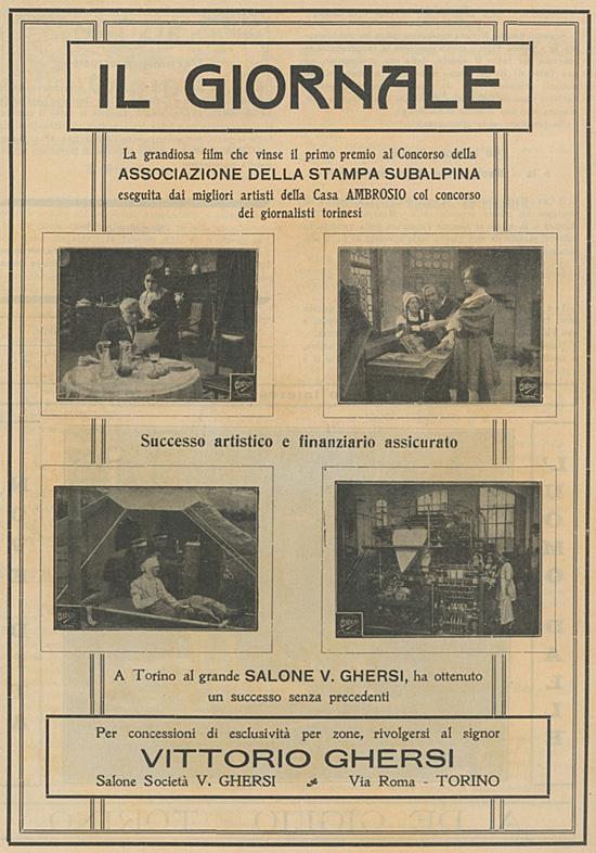 Il Giornale, Società Anonima Ambrosio 1916