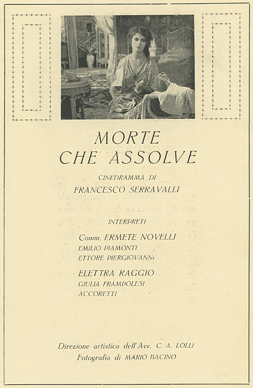 Morte che assolve Raggio Film Milano 1918