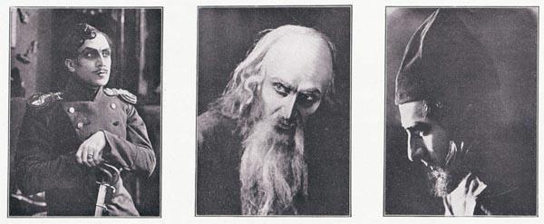 """Ivan Mosjoukine (Mozhukhin) in """"Padre Sergio"""" di Yakov Protazanov 1918"""