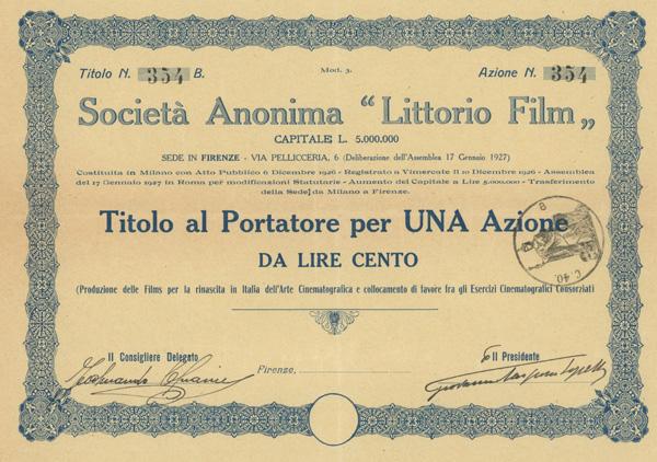 Società Anonima Littorio Film Firenze