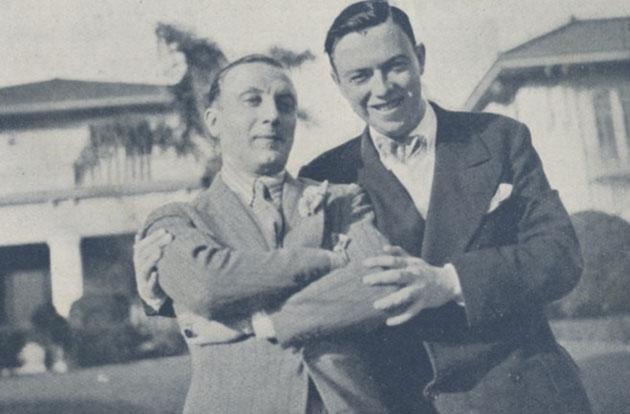 Ivan Mosjoukine et Robert Florey, Hollywood 1927