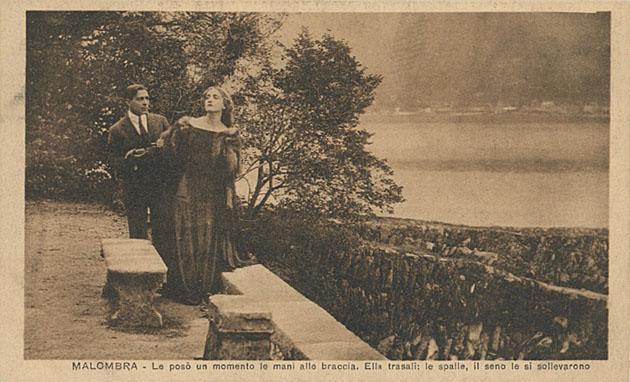 Amleto Novelli e Lyda Borelli in Malombra di Fogazzaro Cines 1917