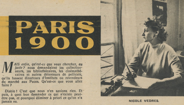 A la poursuite de Paris 1900 par Nicole Vedrès