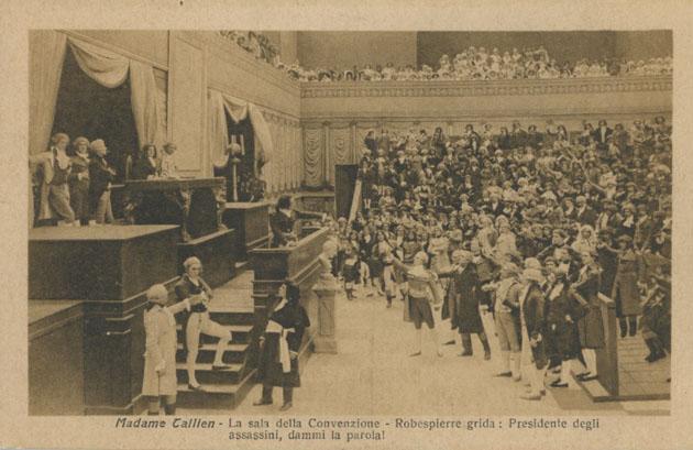 """""""Madame Tallien"""" film di Enrico Guazzoni, la sala della Convenzione."""