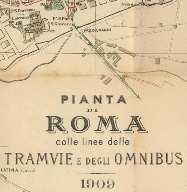 Pianta di Roma 1909