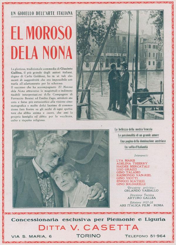 El moroso de la nona Ars Italica Film 1927