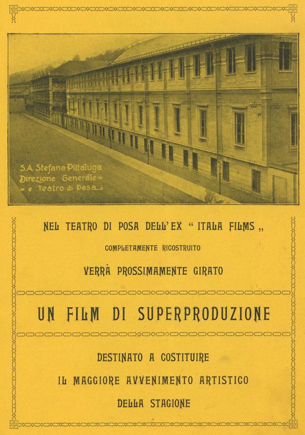 Teatro di posa dell'Ex Itala Films S. A. Stefano Pittaluga