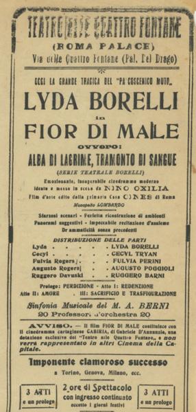 Fior di male al Teatro Quattro Fontane