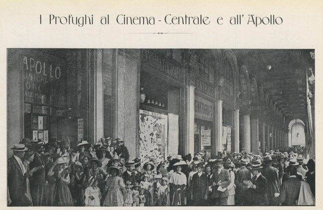 I profughi al Cinema Centrale e all'Apolo